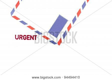 Urgent stamped on the envelope