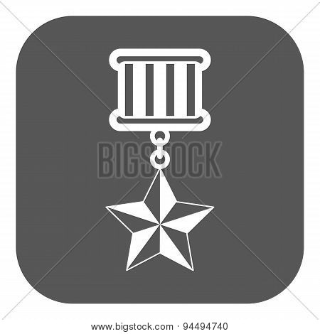 The Medal Icon. Honor Symbol. Flat