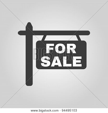 The For Sale Icon. Sale Symbol. Flat