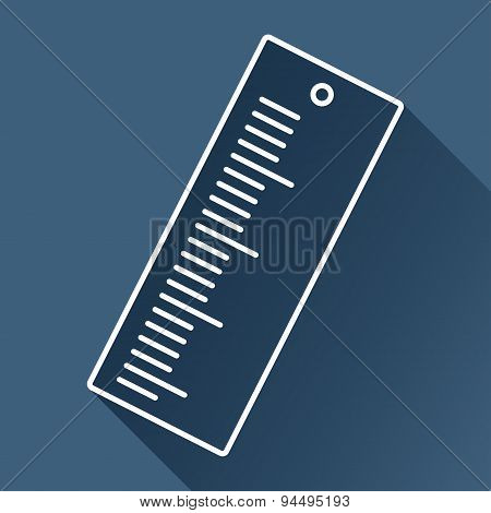 Vector ruler icon. Eps10