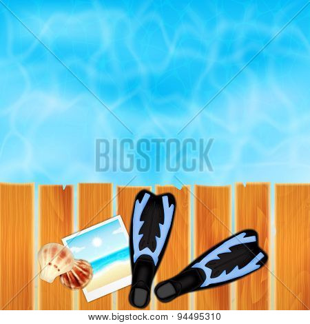 Summer tropical travel background