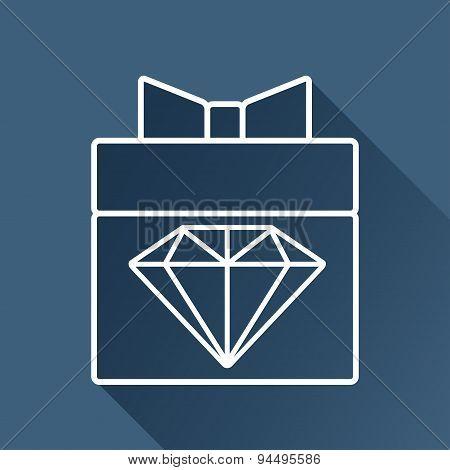 Vector present with diamond icon. Eps10