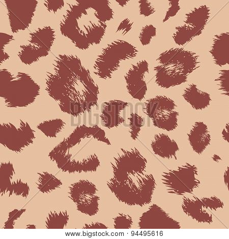 Leopard print pattern. Repeating background