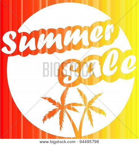 Summer sale design banner. Vector background.