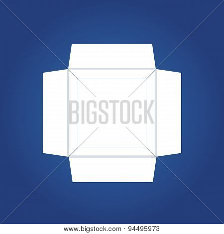 Box icon.  Icon isolated on a blue background. Logo design. Gift box