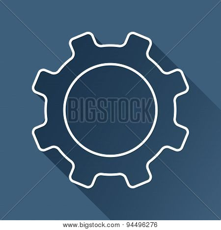 Vector cogwheel icon. Eps10