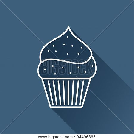 Vector cupcake icon. Eps10