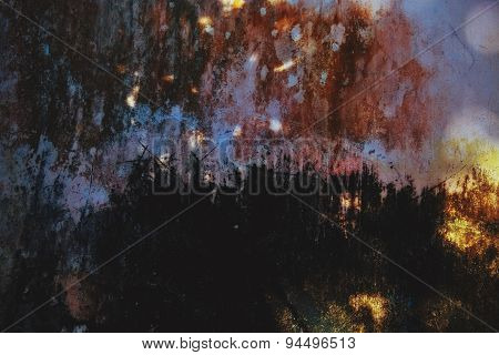 Background With Colorful Spots And Scratches