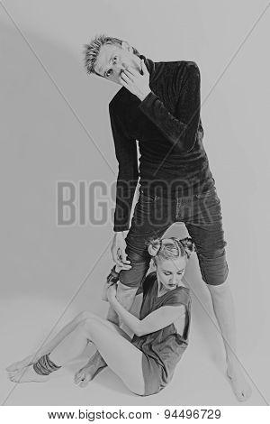 Stylish Man And Woman