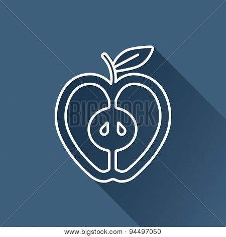 Vector apple icon. Eps10