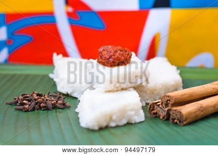 Kiribath, The milk rice is a traditional Sri Lankan food