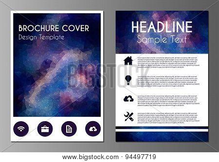 Cosmos polygonal brochure design template