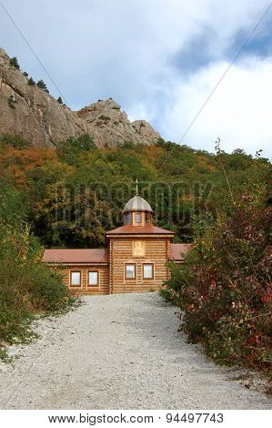 Small wooden orthodox church.