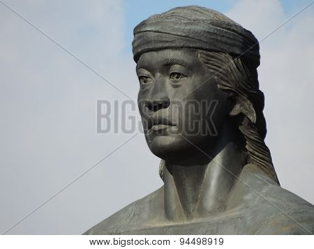 Statue, Male, Face, Angle
