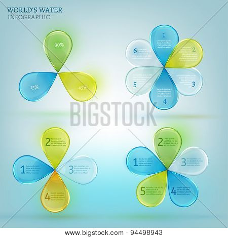 Water drop infographic 02 A