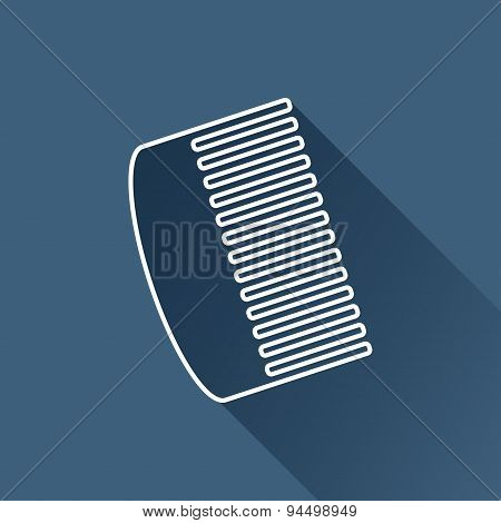 Vector hairbrush icon. Eps10