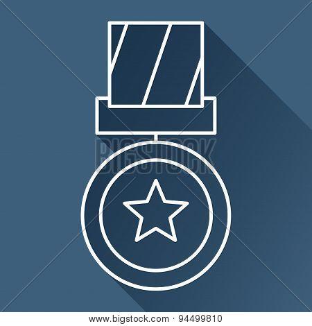Flat medal