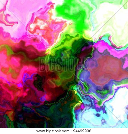 Art abstract colorful chaotic waves pattern