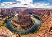 image of horseshoe  - Horseshoe Bend with Colorado river in Arizona - JPG