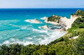 foto of sidari  - white rocks in the sea near Cape Drastis on Corfu island Greece - JPG