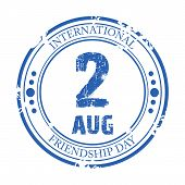 stock photo of friendship day  - illustration of a grungy stamp for Friendship Day - JPG