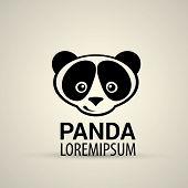 picture of pandas  - vector panda icon - JPG