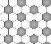 stock photo of hexagon pattern  - seamless pattern with black and white hexagons like football ball pattern - JPG
