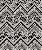 stock photo of native american ethnicity  - Vector ethnic seamless pattern with american indian traditional ornament in black and white colors - JPG