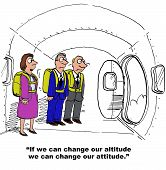 image of parachute  - Business cartoon of businesspeople in an airplane wearing parachutes - JPG