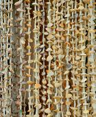 pic of beach shell art  - Colourful shell curtains at the market in Ngapali beach Myanmar - JPG
