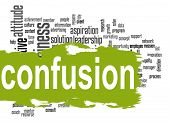 image of confuse  - Confusion word cloud image with hi - JPG