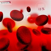 picture of hemoglobin  - The illustration of bio infographics with blood cells in beautiful realistic style - JPG