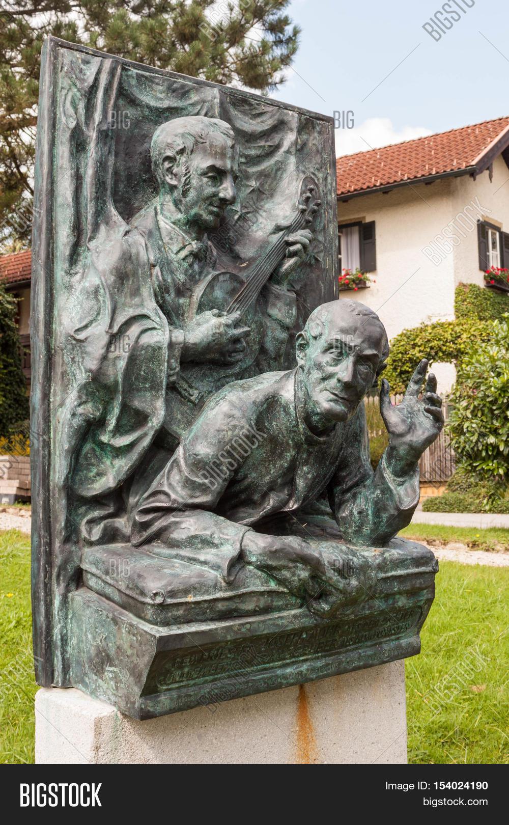 Oberndorf bei Salzburg Austria - August 30 2016: A memorial to ...
