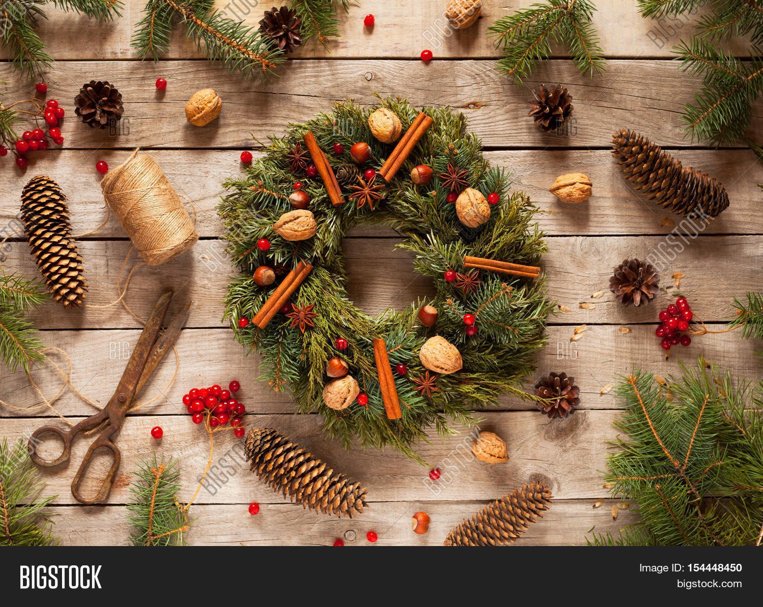 Advent christmas wreath natural image photo bigstock for Advent decoration ideas