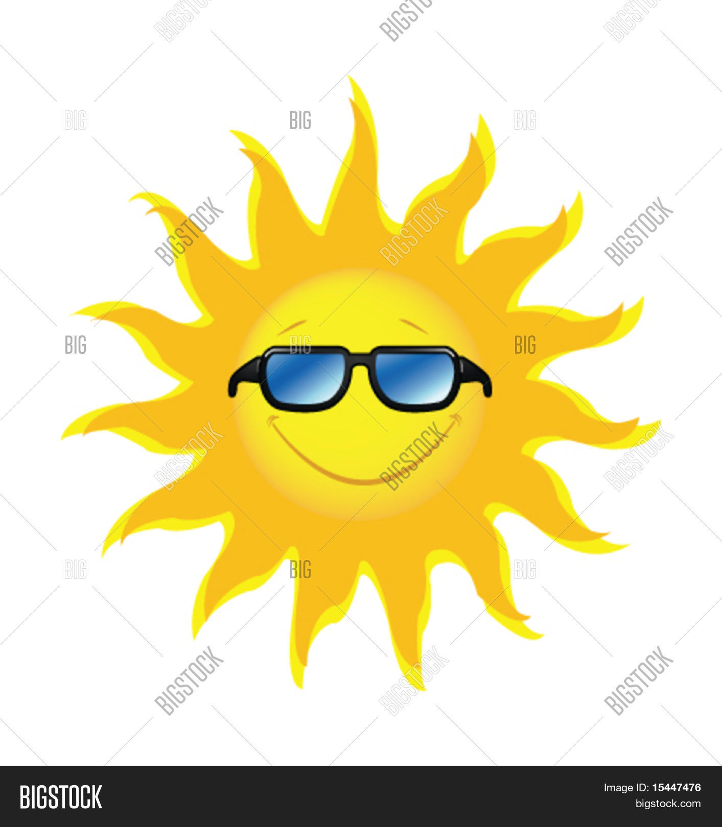 Smiling sun with sunglasses - Smiling Sun With Sunglasses