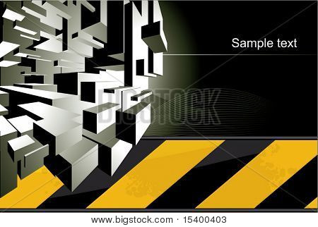 Techno vector background.