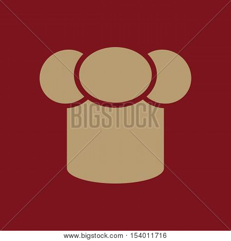 The toque icon. Chef and cook symbol. Flat Vector illustration