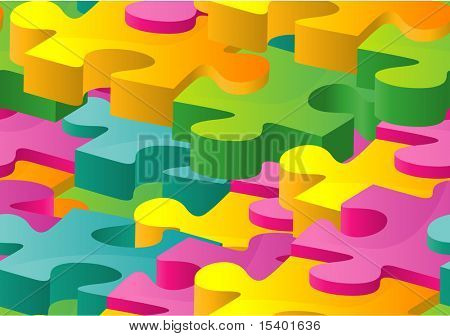Puzzle seamless texture. Vector.