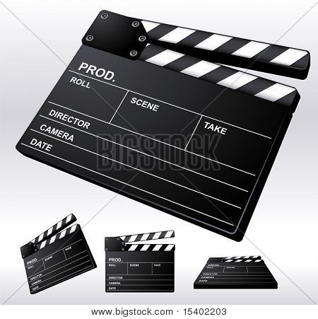 Film Clapper Board. Vector.