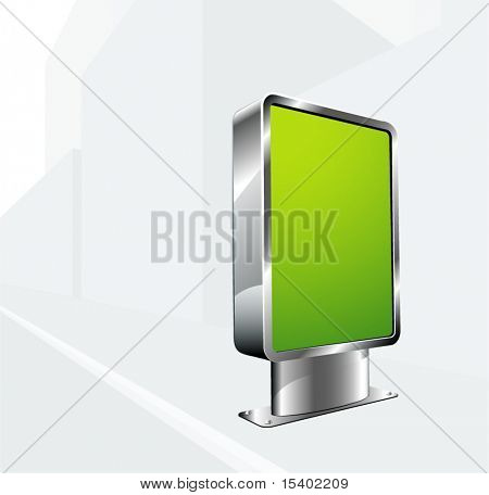 Outdoor advertising construction. Vector.