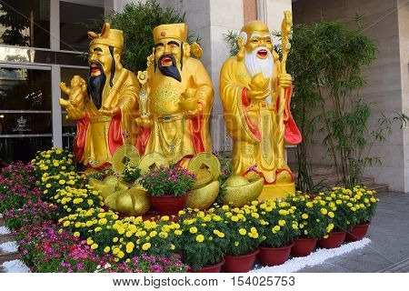 Fu Lu Shou Or Fortune, Prosperity, Longevity Gods