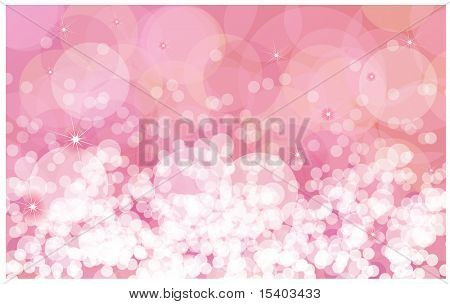 Pink sparkles vector background.