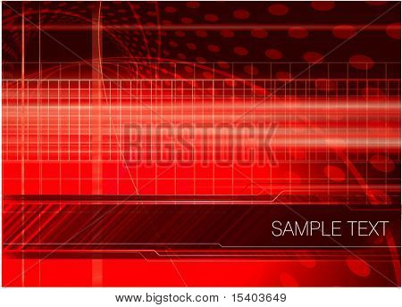 Red digital abstract. Vector.