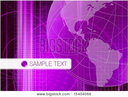 Lilac global communication vector abstract.