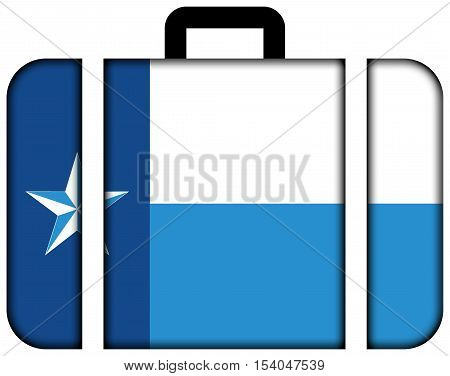 Flag Of Dallas County, Texas, Usa. Suitcase Icon, Travel And Transportation Concept