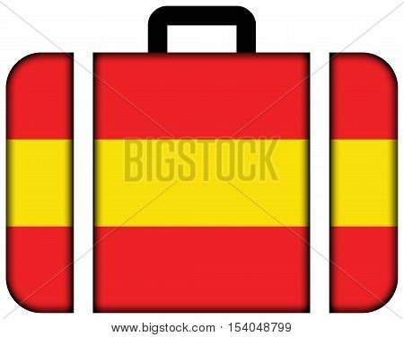 Flag Of Karlsruhe, Germany. Suitcase Icon, Travel And Transportation Concept