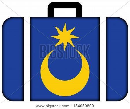 Flag Of Portsmouth, England, Uk. Suitcase Icon, Travel And Transportation Concept