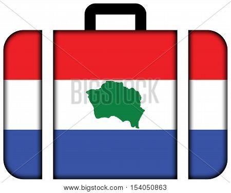 Flag Of Presidente Kennedy, Espirito Santo State, Brazil. Suitcase Icon, Travel And Transportation C