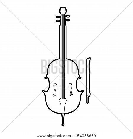 Violin icon. Outline illustration of violin vector icon for web