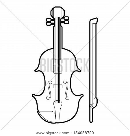 Contrabass icon. Outline illustration of contrabass vector icon for web